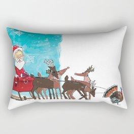 Christmas Turkey Rectangular Pillow