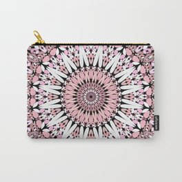 Pink Floral Gravel Mandala Carry-All Pouch