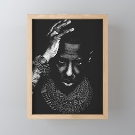 𝐇.𝕋.Ǥ.b.ㄚ. Rap Hip Hop Society6 Fabolous - Rapper - Rap Music Hip Hop NYC Brooklyn 2k Framed Mini Art Print