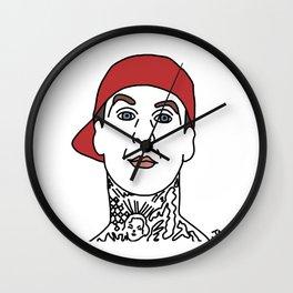 Travis Barker of Blink182 Illustration Wall Clock