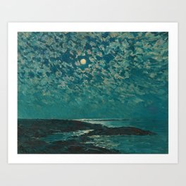 Classical Masterpiece 'Isle of Shoals' Rhode Island by Frederick Childe Hassam Art Print