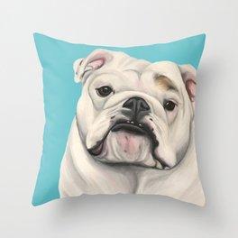 Sweet Little English Bulldog Throw Pillow