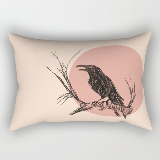 Crow edit version 3 Rectangular Pillow