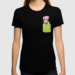 Little Cat in Pocket T-shirt