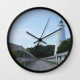 Ocracoke Light Wall Clock