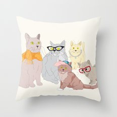Accessory Cats Throw Pillow