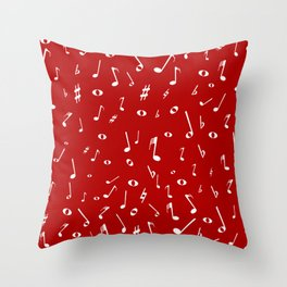 Music Notation  Background Throw Pillow