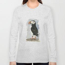 Atlantic Puffin - Watercolor Long Sleeve T-shirt