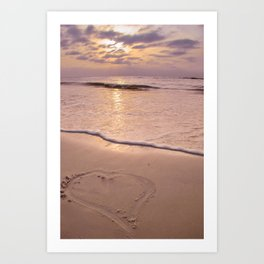 10004 Beach Pastel 2 Art Print