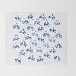 Blue bicycle Throw Blanket