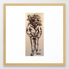 smoke-head Framed Art Print