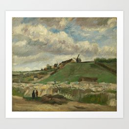 Vincent van Gogh - The Hill of Montmartre with Stone Quarry (1886) Art Print
