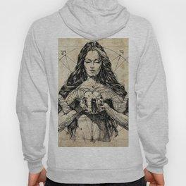 Lady With Skull. Ink on Paper. Юрий Фадеев. Yury Fadeev Hoody