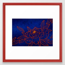 Amber Peony Framed Art Print