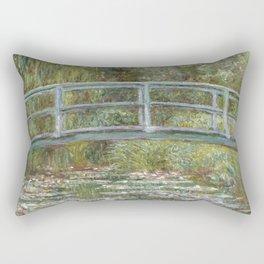 Water Lily Pond (Japanese Bridge) Rectangular Pillow
