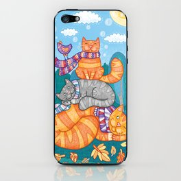 Cats feel the autumn iPhone Skin