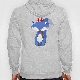 Cute Fox Wintery Holiday Design Hoody