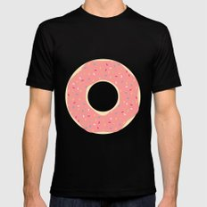 #93 Doughnut MEDIUM Mens Fitted Tee Black