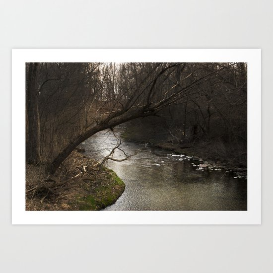 River Bend, Brookston, IN Art Print