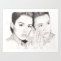 miley Art Prints featuring miley vs. miley by als3