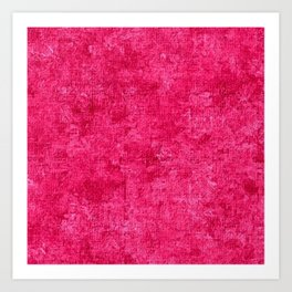 Raspberry Sorbet Oil Painting Color Accent Art Print