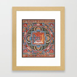 Mandala of Jnanadakini Framed Art Print
