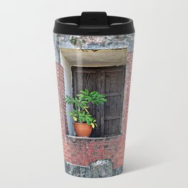 Plant on a Windowsill  Travel Mug