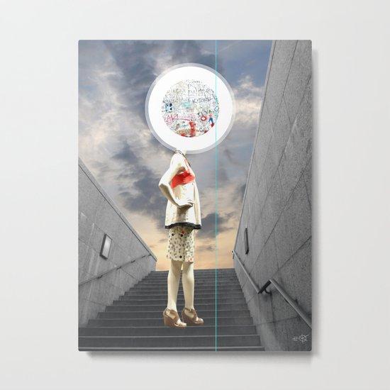 Crazy Woman - Wall head Metal Print