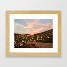 Sunset in Portofino Framed Art Print