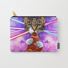 Cat Pizza Eating Cosmos Space galaxy Carry-All Pouch