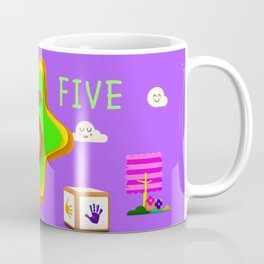 Number five - Kids Art Coffee Mug
