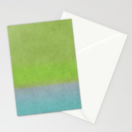 Green greenery greenish Stationery Cards