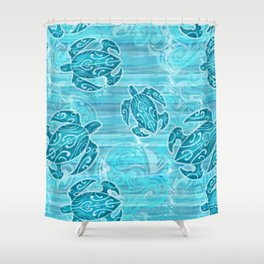 Hawaiian Tribal Honu's Shower Curtain