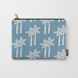 Palm Tree Pattern Blue 22 Carry-All Pouch