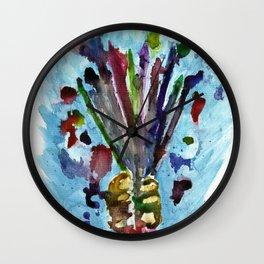 Artists Bouquet Wall Clock