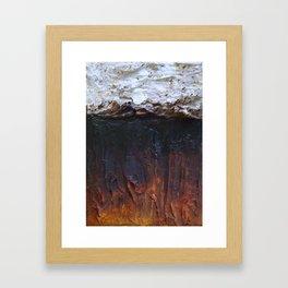 the burntout sound of modern silence Framed Art Print