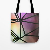 one line Tote Bags featuring Line One by Jillian VanZytveld