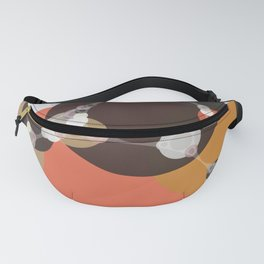 fiona - bright abstract coral pink mustard melon brown dusty rose grey peach Fanny Pack