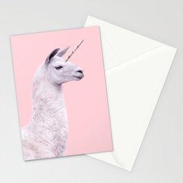 UNICORN LAMA Stationery Cards