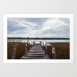 Lake of Cobá Art Print