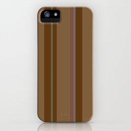 Chocolate Stripes iPhone Case