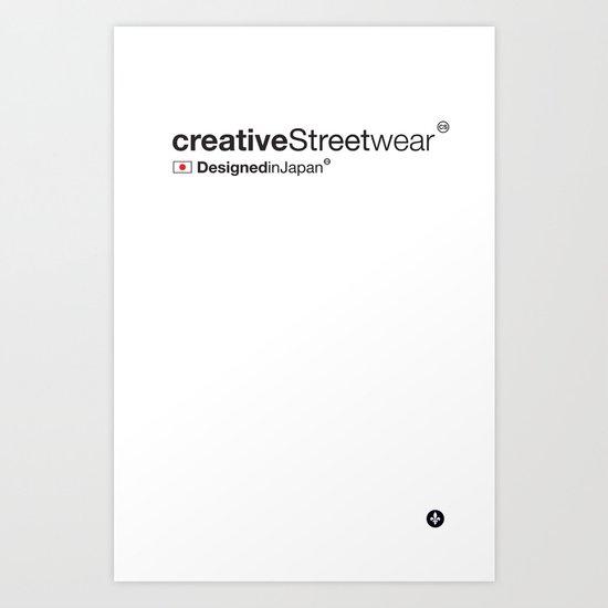 WhiteStripes Art Print