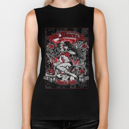 Wine Women & Sin Tattoo Girl Biker Tank