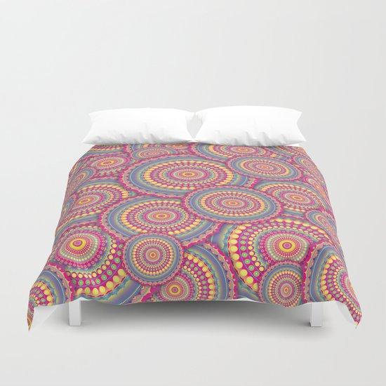 Pink Mandala Hippie Pattern Duvet Cover