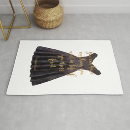 Gold, Little black dress, Quote, life, dress for it, , Fashion, Fashion art, fashion poster, fashion Rug