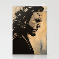 eddie vedder Stationery Cards featuring Eddie  by lyneth Morgan