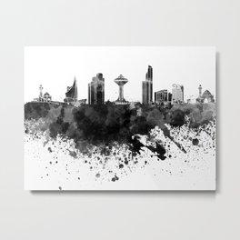 Khobar skyline in black watercolor Metal Print