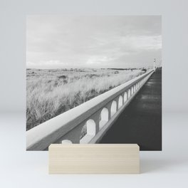 Black & White Seaside Boardwalk Mini Art Print