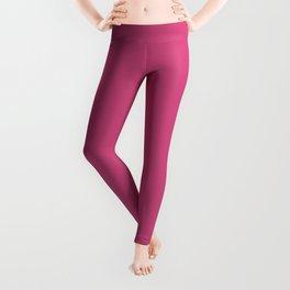 Pink Yarrow | Pantone Fashion Color Spring : Summer 2017 | Solid Color | Leggings