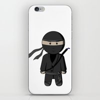 ninja iPhone & iPod Skins featuring Ninja by Shyam13